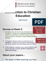 educ310- intro to christian education 6