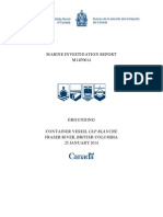 Federal transportation safety board report on grounding of the container ship, Cap Blanche