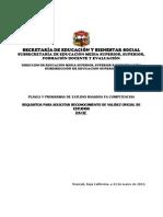 Requisitos en Competencias 2013