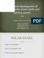 Design and Development of Portable Solar Power Packs 2