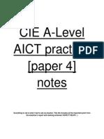 CIE AICT Paper 4 Notes