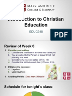 educ310- intro to christian education 7 mid-term