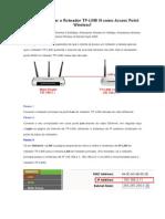 Como Configurar o Roteador TpLINK N como Access Point Wireless.docx