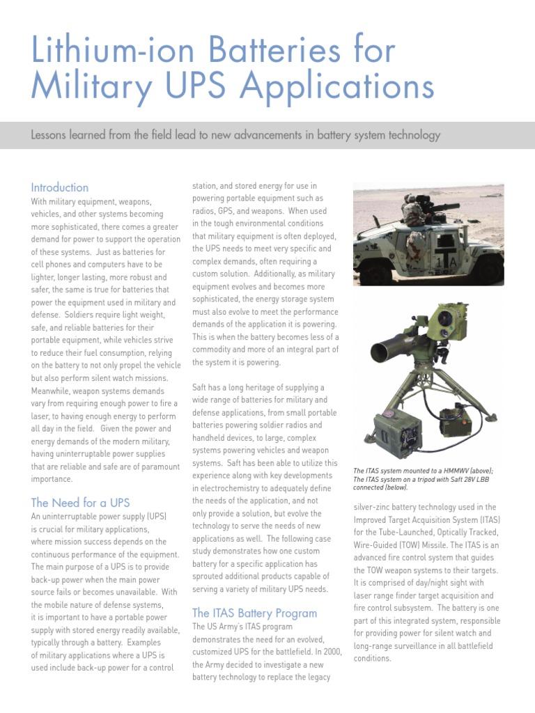 saft-military-ups-batteires pdf | Battery (Electricity