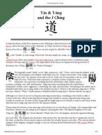 Yin & Yang and the I Ching
