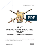 Army Operation Shooting Policy (AOSP) Vol 1