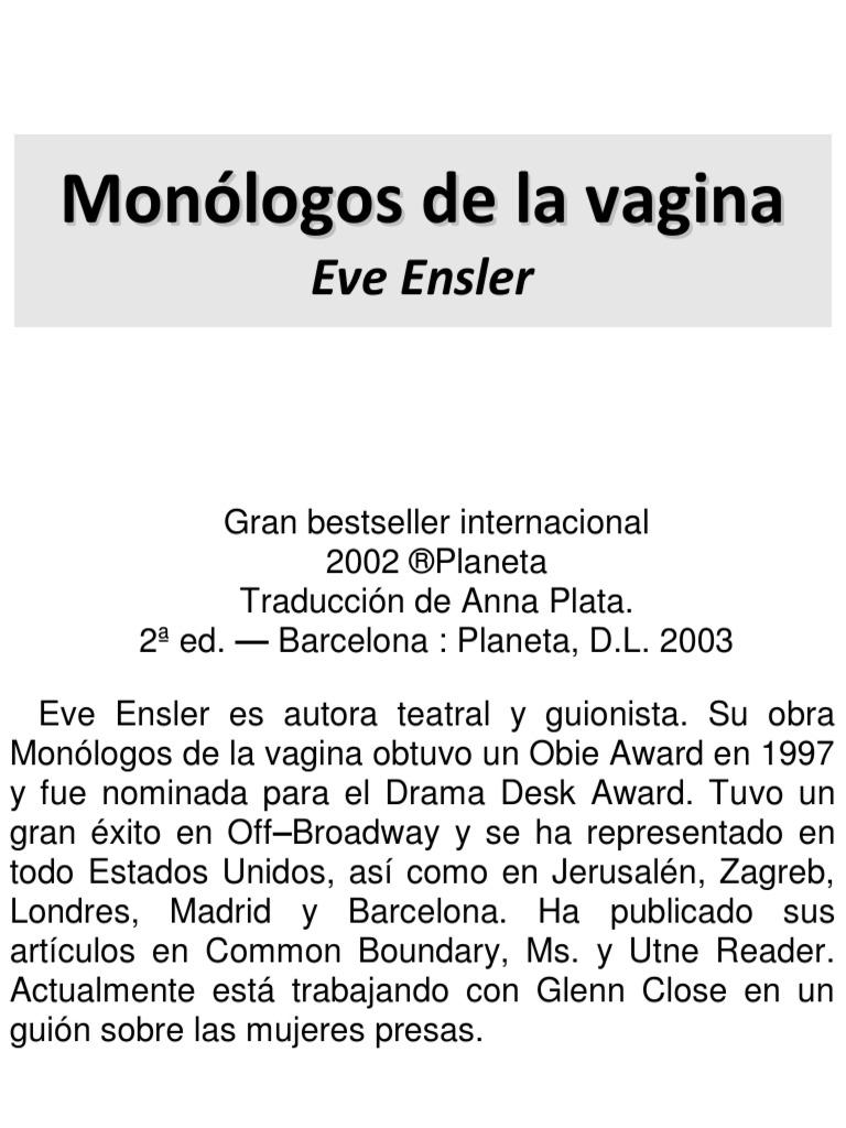 Libro los monologos de la vagina
