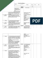 F.long Term Plan. 4 Th Form