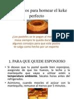 Cinco trucos para hornear el keke perfecto.pptx