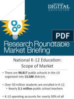 eRepublic CDE Research Roundtable San Diego 14 Market Briefing