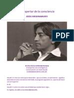 El despertar de la consciencia, Krishnamurti.pdf