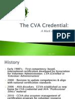The CVA Credential
