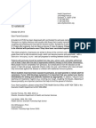 Whooping cough letter