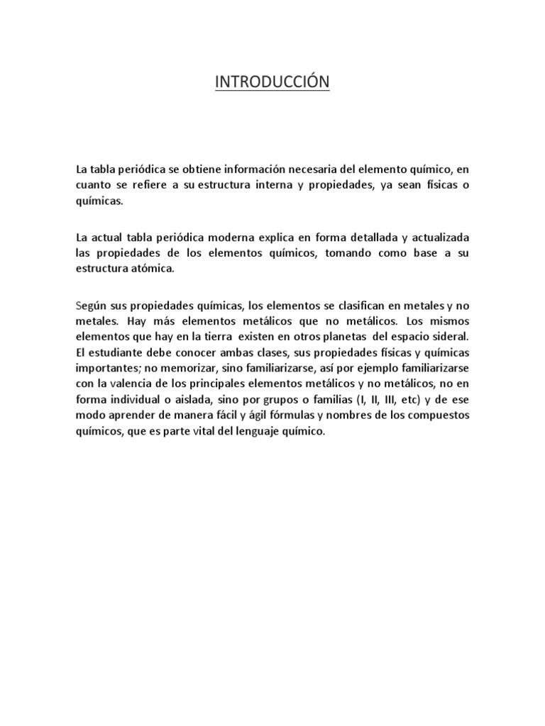 Trabajo de laboratorio tabla periodicapdf urtaz Gallery