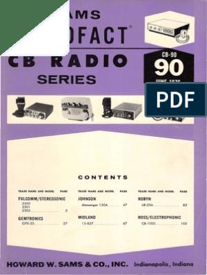 Sams Photofact Cb 90 Broadcasting Electronic Circuits