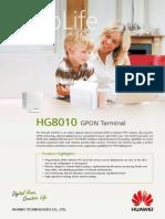 Huawei EchoLife HG8010(GPON) Brief Product Brochure(2011!01!20)