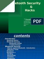 Bluetooth Security & Hacks