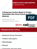 Brazil 2014ugm Response Surface Model Predict Flammable Gas Cloud