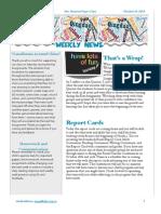 class newsletter october 21