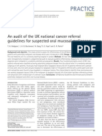 An Audit of the UK national cancer referral guidelines for suspected oral mucosal malignancy.pdf