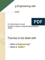 Imbuing Engineering With Tadbir (Mechatronics IIUM 3 Okt 2014)
