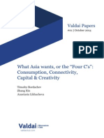 "What Asia wants, or the ""Four C's"""