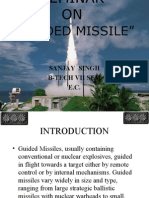 Seminar on  GUIDED MISSILE