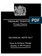 UK Treasury - Acieving Design Quality in PFI Contracts
