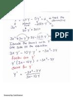 implicit diff solution