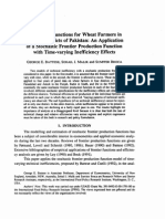 Production Functions for Wheat Farmers in Selected Districts in Pakistan