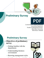 5 Preliminary Survey