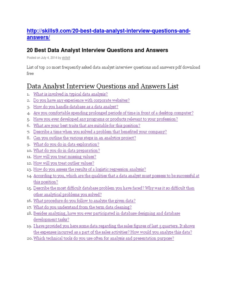 data analytics questions and answers objective