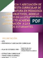 PERTINENCIA Y ADECUACIÓN DE LA PROPUESTA CURRICULAR DE.pptx