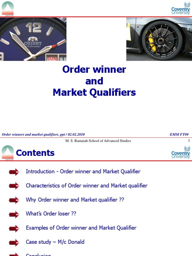 order winner