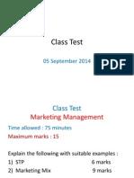 Class Test 050914