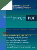 Managementul Expunerii Accidentale La Produse Biologice