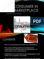 The consumer in marketplace