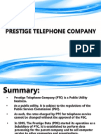 prestige telephone company 2 essay Summary prestige data services is a subsidiary of prestige telephone company ,  2) in order to determine the level of commercial sales of computer use.