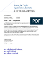 traffic infrigements letter