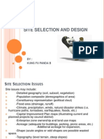 Site Selection and Design