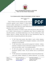 VU SA Pozicija Del Sveikatos Ir Sporto Centro Veiklos_galutine