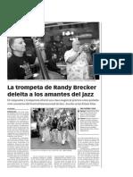 141024 La Verdad CG-La trompeta de Randy Brecker deleita a los amantes del jazz p.10