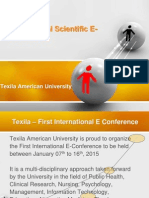 International Scientific E Conference