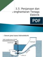 3.5 Penjanaan Dan Penghantaraan Tenagan Elektrik