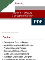 Week 1 - Conceptual Design - Lecture Presentation