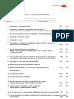 FHA FULL Condo Questionnaire 12-09