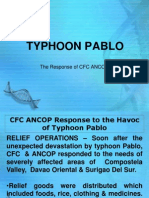 CFC Response to the Havoc of Typhoon Pablo