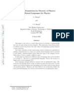 A Topos Foundation for Theories of Physics I. Formal Languages for Physics
