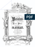 7 Variations on an Irish Folksong Op.105-Piano Score-Kuhlau