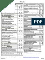 AWS CWI Pricelist